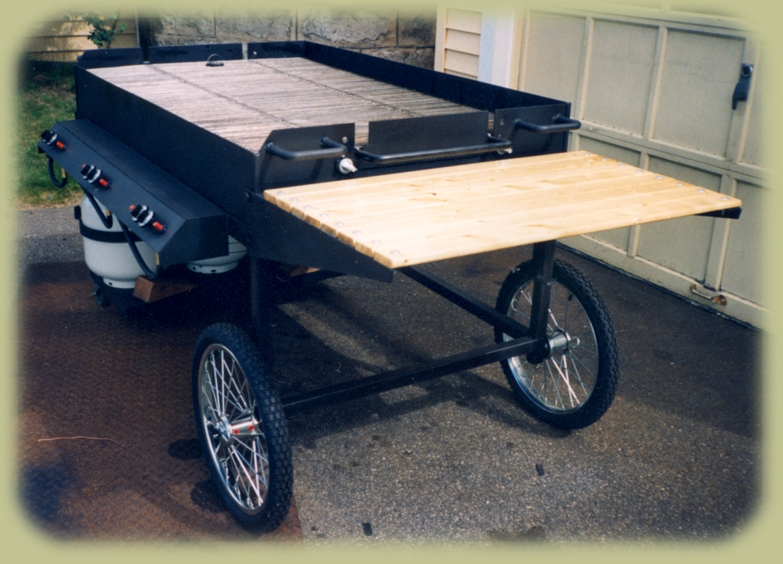 Fold out Table on Large Gas Grill